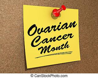 ovarien, cancer, mois