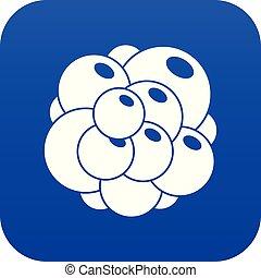 Ovary icon digital blue