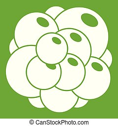 Ovary icon green