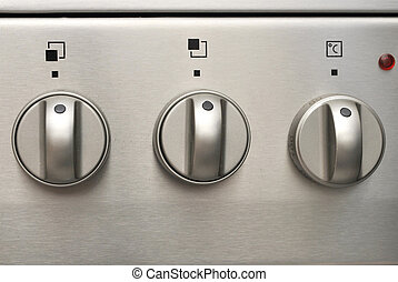 Knobs - Oven control Knobs - close up