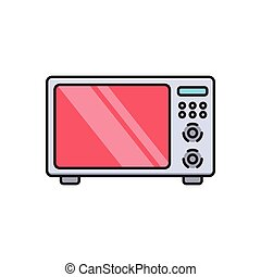oven  flat color icon
