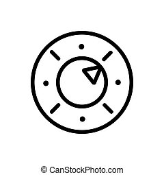 oven function indicator icon vector outline illustration