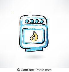 oven grunge icon