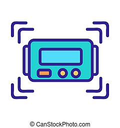 oven indicator icon vector outline illustration