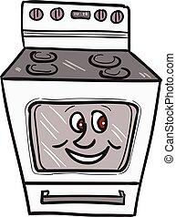 Oven Smiley Face Cartoon