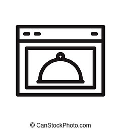 oven thin line vector icon