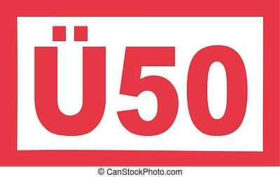 Over 50 birthday - Ü50 german