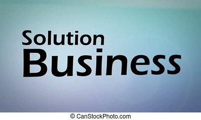 over, animatie, zakenbegrip