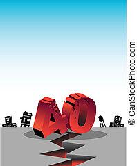 over forty birthday earthquake