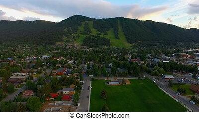 Over Jackson Wyoming Snow King Mountain Ski Runs - Awrial...