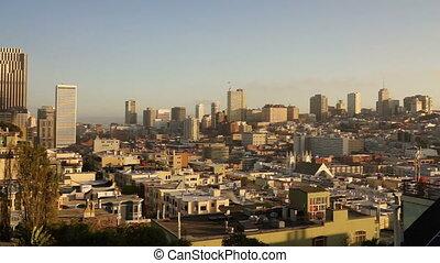 Over Neighborhood Homes Buildings San Francisco California -...