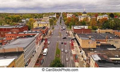 Over Rochester Street Downtown Canandaigua New York - The...