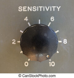 over sensitive - old ham radio dial with its sensitivity ...