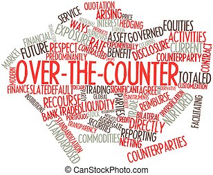 Over-the-counter - Abstract word cloud for Over-the-counter...