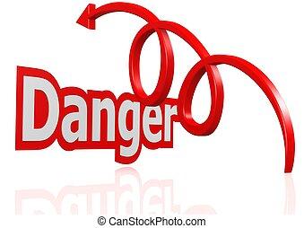 Over the danger