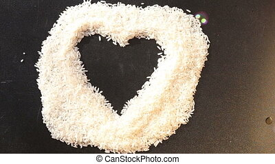 over the heart of rice fly soap bubbles
