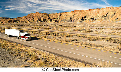 Over The Road Long Haul 18 Wheeler Big Rig Truck