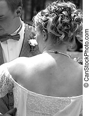 Over the shoulder look - wedding candid