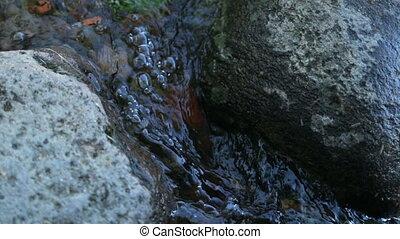 Over water between stones Creek - Over water and between...