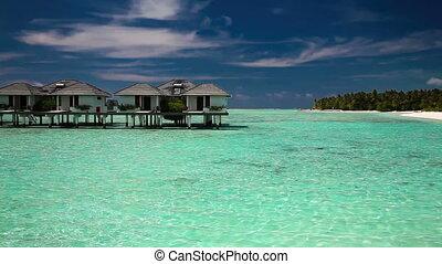 over water villas on island