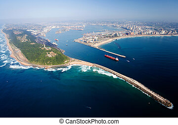 Durban, south africa - overall aerial view of Durban, south ...