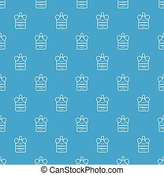 Overalls blacksmith pattern vector seamless blue