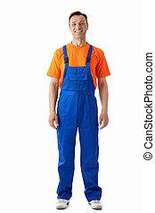 overalls, man