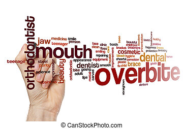 Overbite word cloud concept
