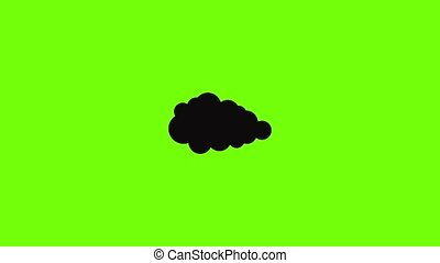 Overcast icon animation best simple object on green screen background