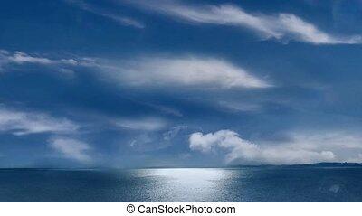 Overcast sky clouds. Ocean Beach
