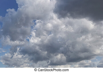 Overcast sky of rain clouds forming in the sky in concept of...