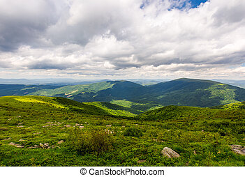 beautiful summer landscape of Carpathians - overcast sky...