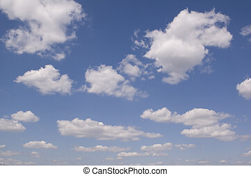 overcast - leaden clouds. grey clouds and blue sky