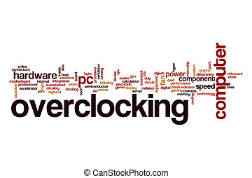 Overclocking word cloud concept - Overclocking word cloud