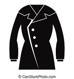 Overcoat in black simple silhouette style icons vector illustration for design and web isolated