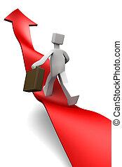 Overcome of economy recession concept