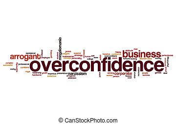 Overconfidence word cloud