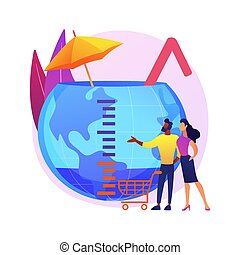 Overconsumption abstract concept vector illustration.