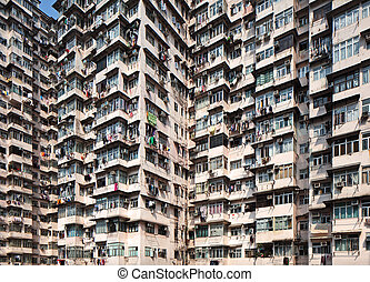 Overcrowded residential building