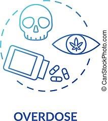 Overdose concept icon