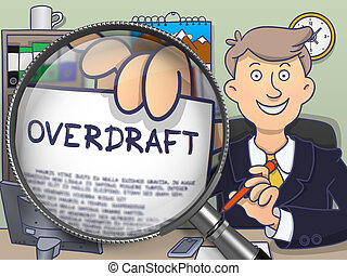 Overdraft through Magnifier. Doodle Style.