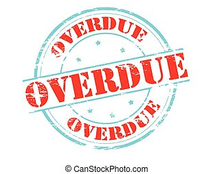 Overdue - Rubber stamp with word overdue inside, vector...