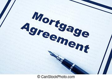 overeenkomst, hypotheek