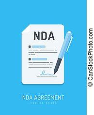 overeenkomst, nda, onthulling, niet
