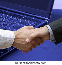 overeenkomst, op, technologie