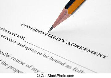 overeenkomst, vertrouwelijk