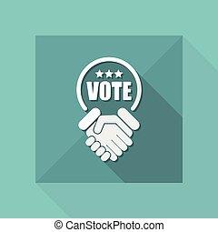 overeenkomst, voor, stemmen