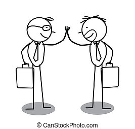 overeenkomst, zakenman