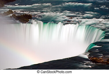Overflow - A dreamy image of the horseshoe falls with a hint...