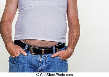 overgewicht man